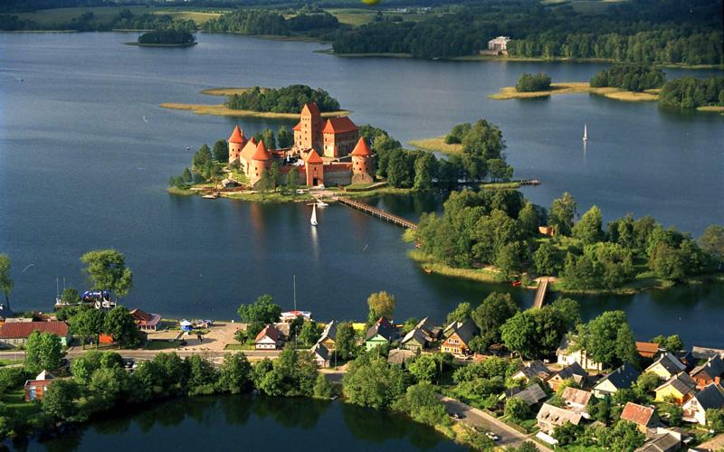 Castillo de Trakai, símbolo de Lituania