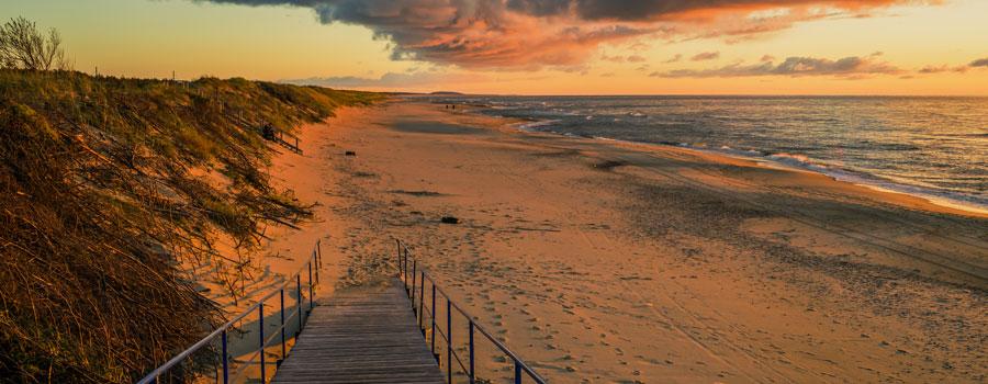 Playas del istmo de Curlandia