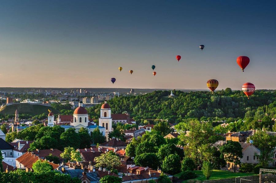 Globos aerostáticos sobre Vilnius