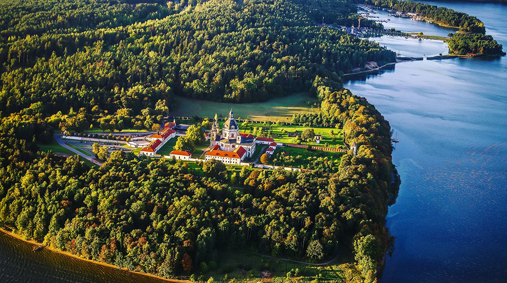 Monasterio de Pažaislis a las afueras de Kaunas