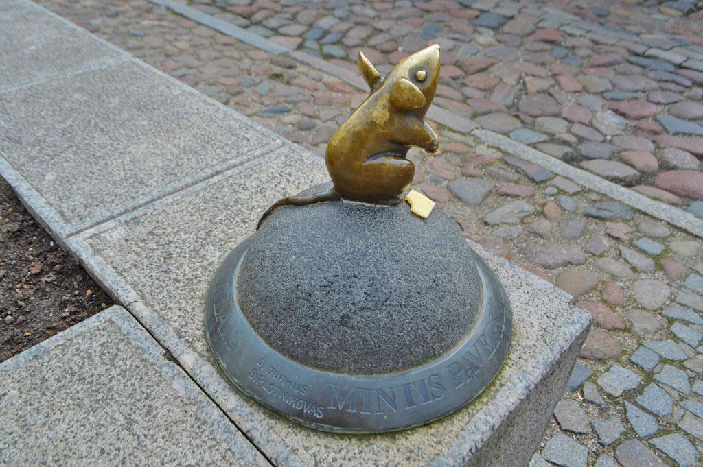 El ratón, una de las esculturas de Klaipeda